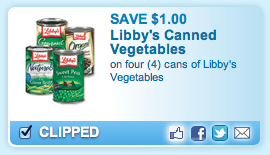 Libbys Vegetables Coupon