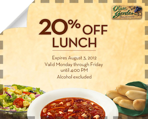 Olive Garden Printable Coupon