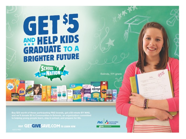 New P&G GIVE Education Mail In Rebate