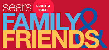 Sears Family Friends Sale