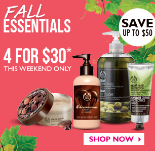 The Body Shop Fall Essentials Sale