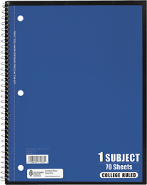 Tops 1 Subject Notebook