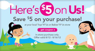 Toys R Us Babies R Us 5 Coupon