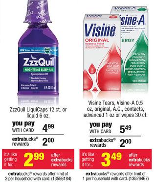 Zzzquil Visine CVS Deals