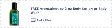 BBW FREE Aromatherapy Offer