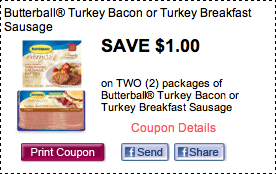 picture relating to Butterball Coupons Turkey Printable identified as $1/2 Butterball Turkey Bacon Coupon