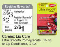 Carmex Lip Balm Register Reward Deal