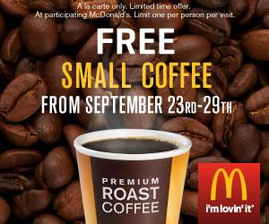 McDonald's: FREE Coffee 9/23-9/29