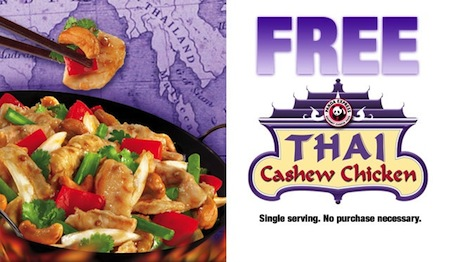 Panda Express FREE Thai Cashew Chicken Coupon