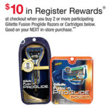 Walgreens Gillette ProGlide Register Reward Deal