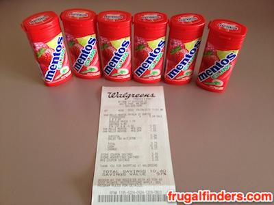 Walgreens Mentos Gum Deal JPG
