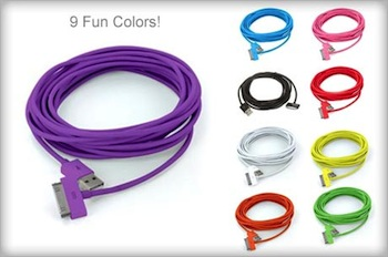 Two 10′ Colored USB Cables for iPhone/iPod Just $2