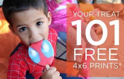 101 FREE 4x6 Prints