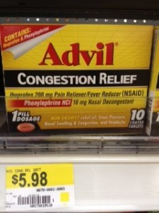 Advil Congestion Relief Walmart Deal