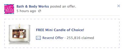 BBW FREE Mini Candle