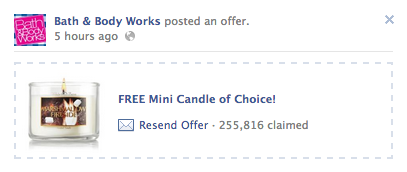 Bath and Body Works: FREE Mini Candle!