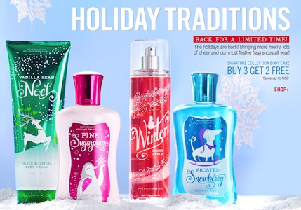 Bath Body Works Winter Collection