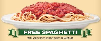 Buca di Beppo Free Spaghetti