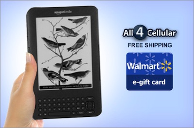 Refurbished Amazon Kindle + Bonus Walmart Gift Card As Low As $79 Shipped