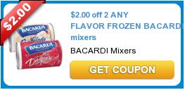 Frozen Bacardi Mixers Coupon