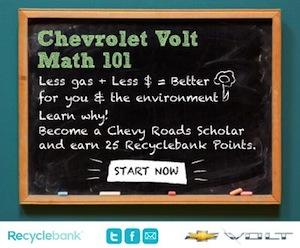 Recyclebank Chevrolet Volt