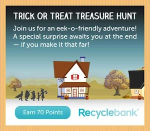Recyclebank Trick or Treat Treasure Hunt