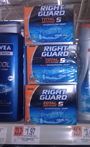 Right Guard Total Defense 5 Bar Soap