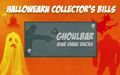 Swagbucks HallowEarn Collectors Bills