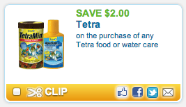 Tetra Fish Food Coupon