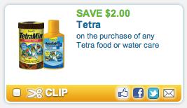 Tetra Fish Food Coupon