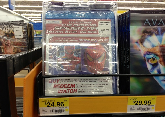 The Amazing Spider Man Pre Order Package at Walmart