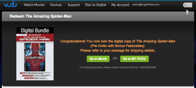 The Amazing Spider Man Vudu Redemption