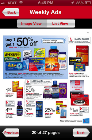 Walgreens Mobile App Weekly Ad