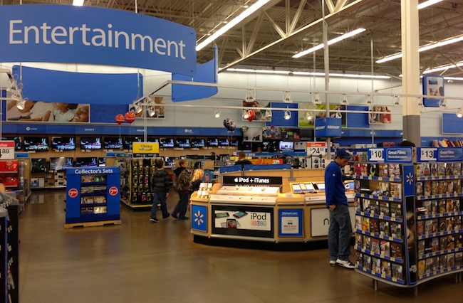Walmart Entertainment Section