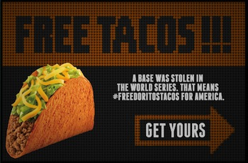 Taco Bell: FREE Doritos Locos Taco on October 30th