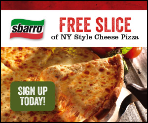 FREE Sbarro Pizza