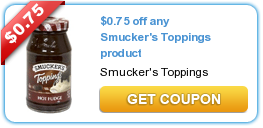 Smuckers Ice Cream Toppings Coupon