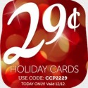Custom Holiday Cards $0.29 Each Shipped (Today Only)
