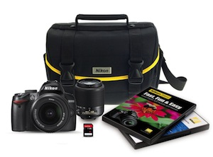 Nikon D3000 DSLR Bundle