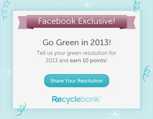 Recyclebank Go Green in 2013
