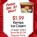 Lunds and Byerly's: Kemps Ice Cream $1.99