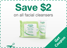 Simple Facial Cleansers Coupon