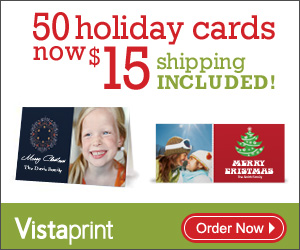 Vistaprint Holiday Cards Offer