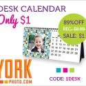 $1 Desk Calendar for New York Photo Users