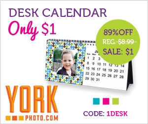 York Photo Desk Calendar