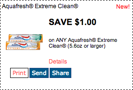 Aquafresh Printable Coupon