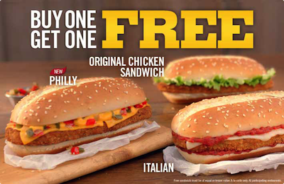 Burger King BOGO Chicken Sandwiches