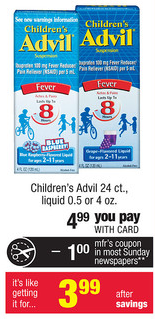 Childrens Advil CVS Deal