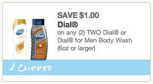Dial Body Wash Coupon