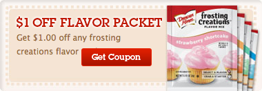 Duncan Hines Frosting Creations Flavor Packet Coupon